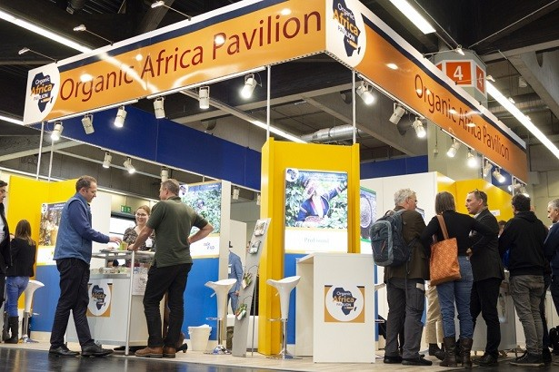 The Organic Africa Pavilion during BioFach 2019