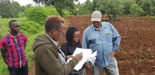 Preparation for sample collection; Green Rhino team, Instaveg, SNV representative