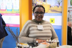 Exhibitor of essential oils at the Organic Africa Pavilion in 2020