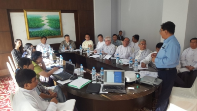 Verifying results of value chain analysis results in a workshop in Myanmar