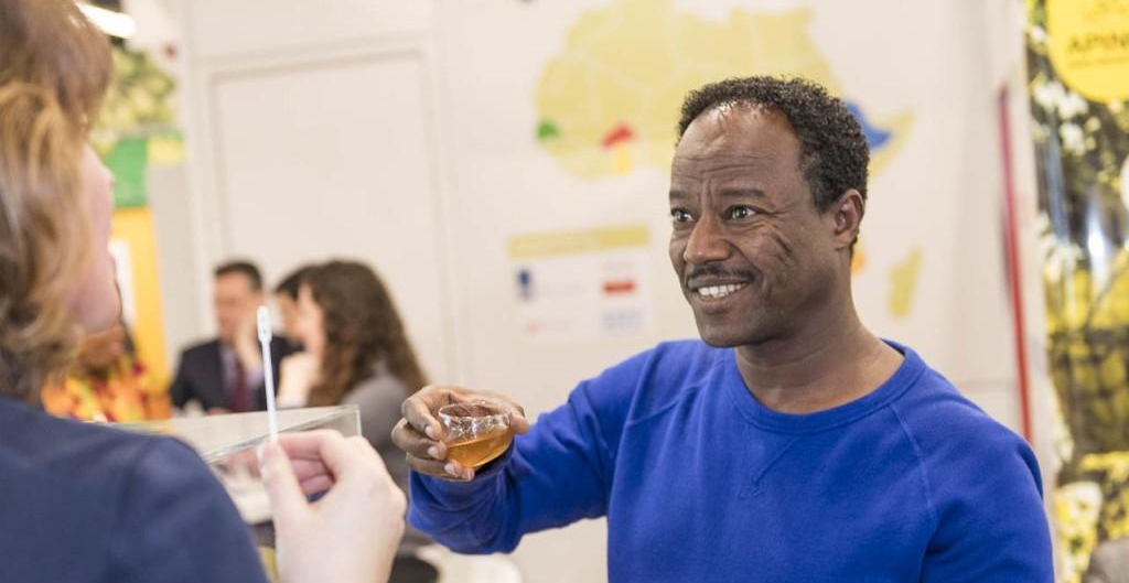 An Ethiopian Honey Exporter at the Organic Africa Pavilion
